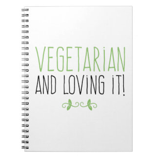 Cuaderno Vegetarian and loving it!