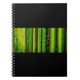Cuaderno verde de la foto