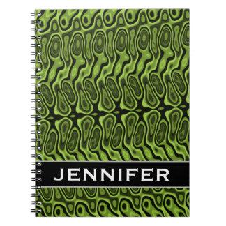 Cuaderno Verde del extracto Líquido-Como modelo de la
