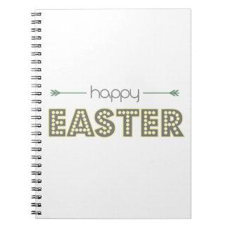Cuaderno verde menta feliz del amarillo de la primavera de
