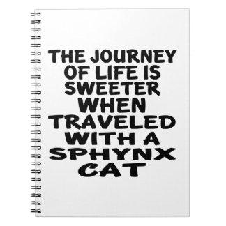 Cuaderno Viajado con el gato de Sphynx