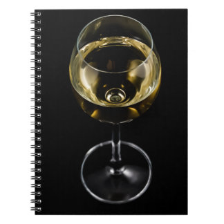 Cuaderno vidrio del champán