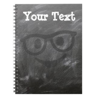 Cuaderno Vidrios de la pizarra sonrientes