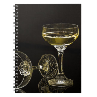 Cuaderno vidrios del champán