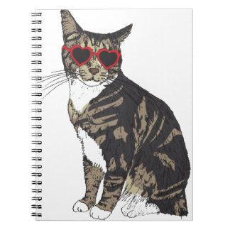 Cuaderno Vidrios del corazón del gato que llevan