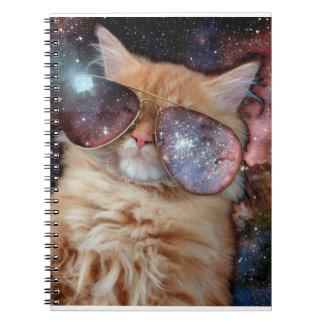 Cuaderno Vidrios del gato - gato de las gafas de sol -