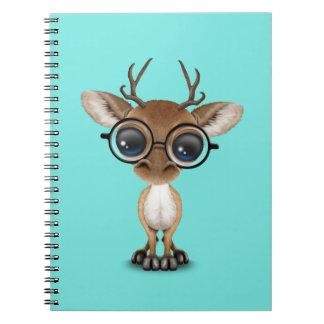 Cuaderno Vidrios que llevan de los ciervos Nerdy del bebé