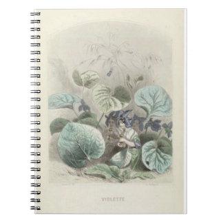 Cuaderno Violetas de Les Fleurs