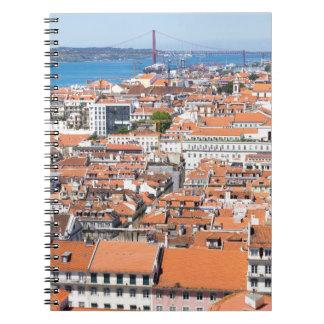 Cuaderno Vista aérea de Lisboa, Portugal