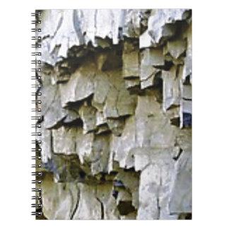 Cuaderno volantes al azar de la roca