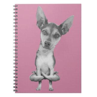 Cuaderno Yogi Doggie cute dog in yoga asana , cool funny