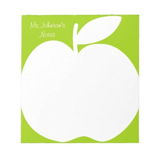 Cuadernos de notas verdes de la escritura para el  libretas para notas