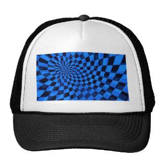 Cuadrado abstracto azul y negro gorras de camionero