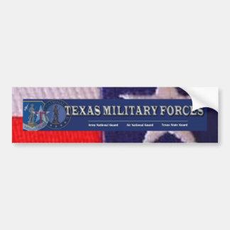 Cuadrado de la bandera de TX, fuerzas militares de Pegatina Para Coche