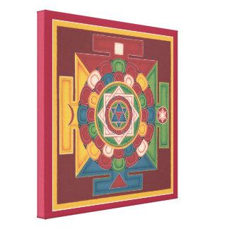 CUADRADO de la LONA - mandala de los 5 elementos Impresión En Lienzo Estirada