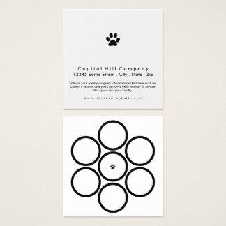 cuadrado de la pata del mascota del programa de la tarjeta de visita cuadrada
