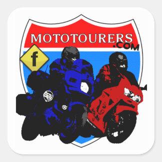 cuadrado de MotoTourers.com (FB) Pegatinas Cuadradases Personalizadas