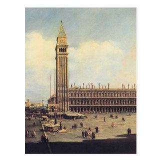 Cuadrado de San Marco de la torre de reloj que Postal