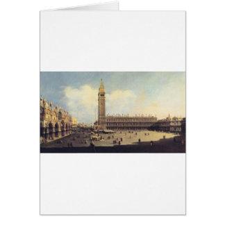 Cuadrado de San Marco de la torre de reloj que Tarjeta De Felicitación