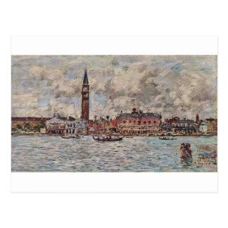 Cuadrado de San-Marco en Venecia de Eugene Boudin Postal