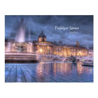 Cuadrado de Trafalgar en la postal de Londres