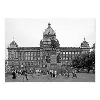 Cuadrado de Wenceslao en Praga Foto