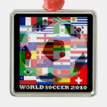 Cuadrado del ornamento de las banderas del fútbol  ornatos