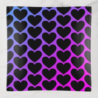 Cuadrado negro del modelo del corazón
