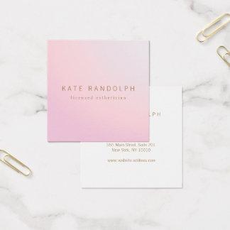 Cuadrado rosado simple del Esthetician de Ombre de Tarjeta De Visita Cuadrada