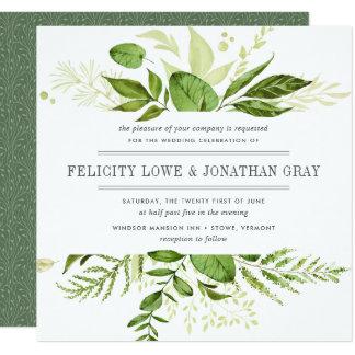 Cuadrado salvaje de la invitación el | del boda invitación 13,3 cm x 13,3cm