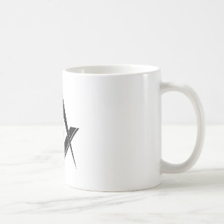 Cuadrado y compás modernos taza de café