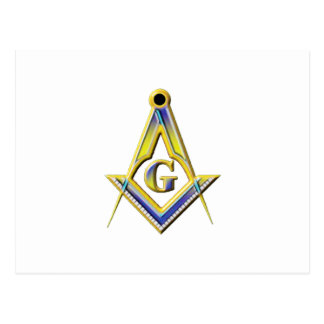 Cuadrado y compases del Freemason Postal