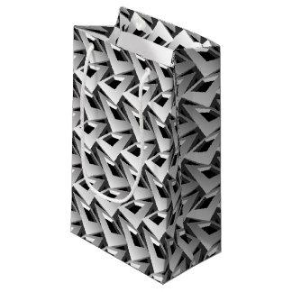 cuadrados 3D Bolsa De Regalo Pequeña