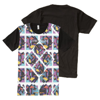 cuadrados 3D Camisetas Con Estampado Integral