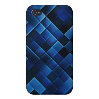 Cuadrados azules iPhone 4/4S carcasas