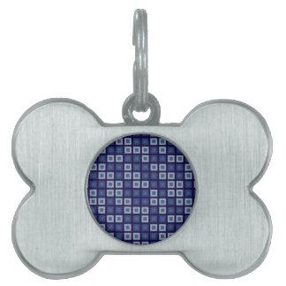 Cuadrados azules placas mascota
