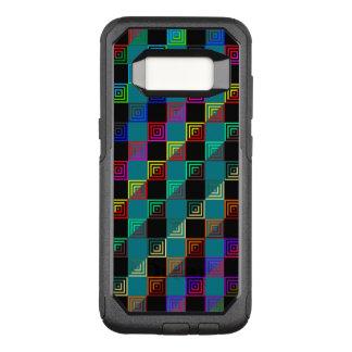 Cuadrados coloreados a medias funda commuter de OtterBox para samsung galaxy s8