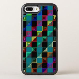 Cuadrados coloreados a medias funda OtterBox symmetry para iPhone 7 plus