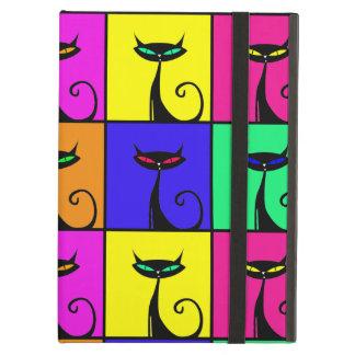 Cuadrados coloridos frescos del arte pop del gato