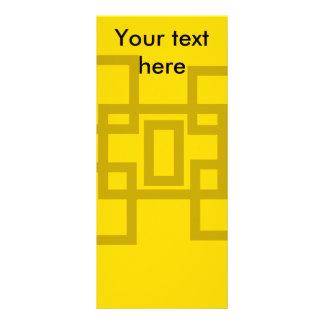 Cuadrados contemporáneos del oro en amarillo tarjeta publicitaria