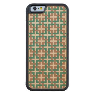 Cuadrados de la selva tropical y caso de madera funda de iPhone 6 bumper arce