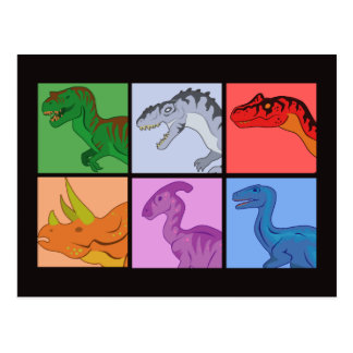 Cuadrados del dinosaurio postal