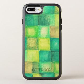 cuadrados del fondo de la acuarela funda OtterBox symmetry para iPhone 8 plus/7 plus
