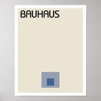 Cuadrados del Minimalist del Bauhaus Póster