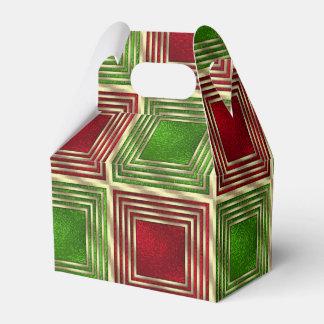 Cuadrados festivos brillantes caja de regalos