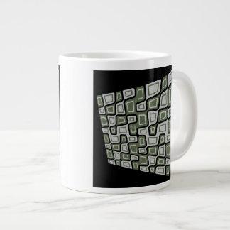 Cuadrados inclinados taza de café gigante
