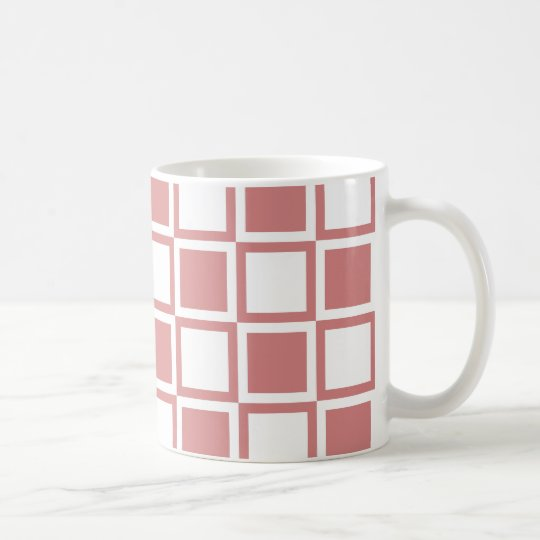 Cuadrados intrépidos rosados de la MOD Taza De Café