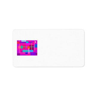Cuadrados magentas color de rosa etiquetas de dirección