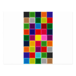 Cuadrados multi y rayas coloreados femeninos postal