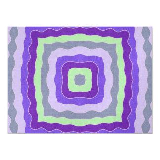 Cuadrados ondulados invitación 16,5 x 22,2 cm